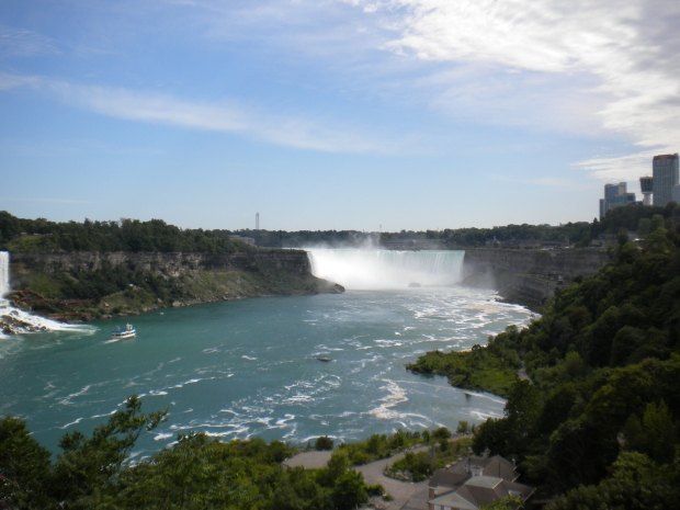 Niagara Falls horseshoe from the Canadian side