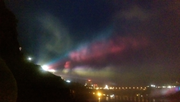 Lights on the mist at Niagara Falls