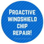 Proactive windshield chip repair!