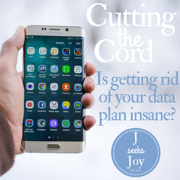 Think of how much money you're spending a year on data. You could probably live without it.